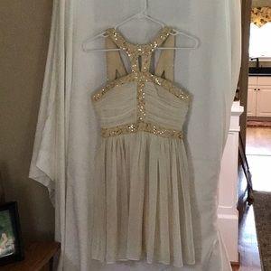 Dresses & Skirts - Gold cream dress